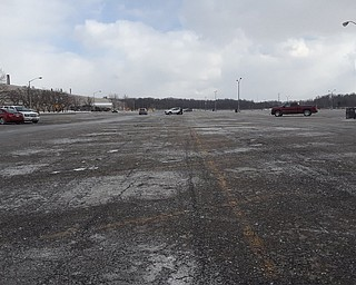 Empty parking lot after the final Cruze rolled off the assembly line.