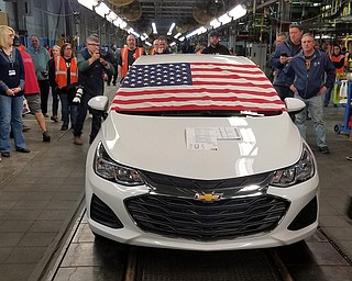 The final Chevy Cruze rolled off the GM Lordstown production line at about 2:30 p.m. today, according to a statement from the Drive It Home campaign.