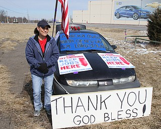 ROBERT K.YOSAY  | THE VINDICATOR..Werner Lange, the guy who held the 43 day vigil outside the plant, is having an outdoor tribute to women workers and a Òprotest against the gross injustice of idling of this plant.Ó..Vickie Raymond -Columbiana-  talks about her years at the plant ...
