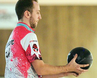 William D. Lewis The Vindicator  Graham Fach competes in PBA event 3-24-19 at Bell Wick.