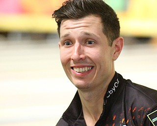 William D. Lewis The Vindicator  MAtt O'Grady is smiles during PBA tournament at Bell Wick in Hubbard 3-24-19.