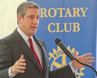U.S. Rep. Tim Ryan of Howland, D-13th, spoke to the Rotary Club of Youngstown about what he's doing to represent the area. He also told The Vindicator that he'll make a decision shortly on running for president.