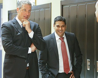 ROBERT K.YOSAY  | THE VINDICATOR..The Youngstown Foundation announced on its 100th birthday that it will now contribute a larger percentage to gifts in the valley.Tim Ryan and Krish MoHip talk about the progress in the schools.....-30-