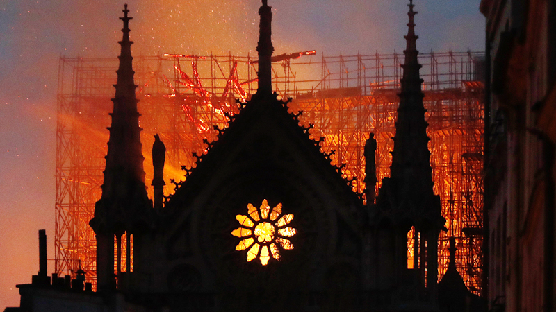 482a18daa97 Massive fire engulfs beloved Notre Dame Cathedral in Paris