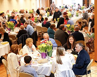 People enjoy the annual Easter Brunch at Fellows Riverside Gardens on Sunday. EMILY MATTHEWS | THE VINDICATOR