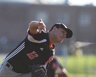 Springfield pitcher Shane Eynon pitched 6 1/3 scoreless innings  during Monday afternoons game against Western Reserve at Springfield High School.  Dustin Livesay  |  The Vindicator  4/22/19  Springfield Local
