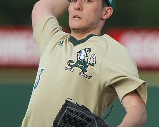 William D. Lewis The Vindicator  Ursuline pitcher Joel Kreuzwieser(3) delivers during 4-24-19 game with Girard at Cene.