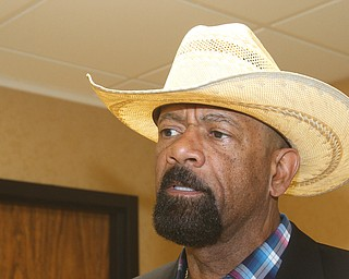 William D. Lewis The vindicator  Former Milwaukee Sheriff David Clarke was speaker at Mahoning County Republican PartyÕs Lincoln Day dinner Tuesday at the Maronite Center 4-3-19.