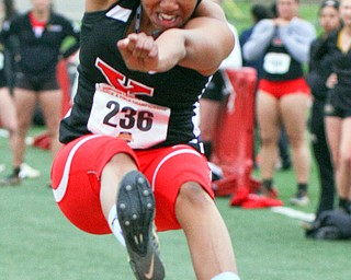 William D. Lewis the vindicator  YSU's Chontel Fils(236) competes in long jump