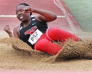 William D. Leiws The Vindicator  YSU's Chandler Killins(247) competes in long jump 5-4-19.