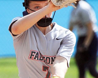 William D. Lewis The VindictorFitch pitcher Lydia Splading(7) delivers during 5-6-19 action with mooney.