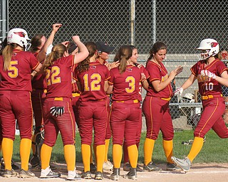 William D. Lewis The Vindictor  Mooney'sAlaina Scavina(10) scores during 7th inning.Mooney won 8-3 at Fitch 5-6-19..