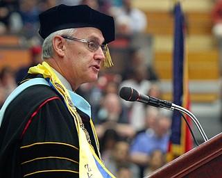 William D. Lewis the Vindicator  YSU pres Jim Tressel speaks during 5-10-19 commencement.
