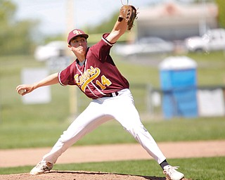 South Range's Nick Habeth pitches the ball during their game against Springfield on Saturday at Springfield High School. Springfield won in the 10th inning 9-8. EMILY MATTHEWS | THE VINDICATOR