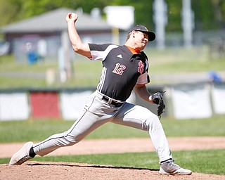 Springfield's Shane Eynon pitches the ball during their game against South Range on Saturday at Springfield High School. Springfield won in the 10th inning 9-8. EMILY MATTHEWS | THE VINDICATOR