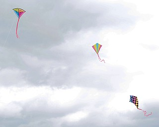 Kites fly high during a fundraiser for Save the Children, an organization that helps child refugees, on the track at Chaney High School on Tuesday afternoon. EMILY MATTHEWS | THE VINDICATOR