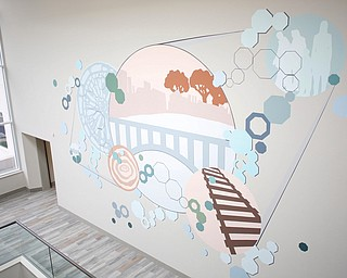 A mural decorates a wall of the new Southwoods Pain and Spine Center on Monday morning. EMILY MATTHEWS | THE VINDICATOR
