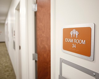 Exam rooms line the halls in the new Southwoods Pain and Spine Center. EMILY MATTHEWS | THE VINDICATOR