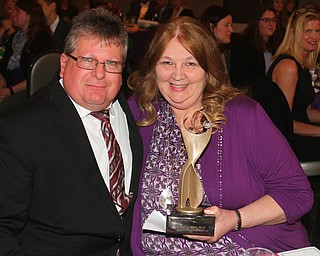 William D. Lewis The Vindicator   2019 Athena winner Dr. Tammy King, and her husband Raymond King.