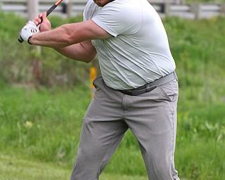 William D. Lewis The vindicator Josh Zarlenga tees off at Firestone Farms during GGOV action 5-17-19.