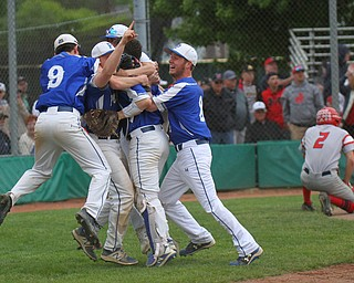 William D. Lewis The Vindictor Poland playerw celebrate after defeating Nilew 8-7 at Cene.