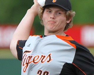 William D. Lewis the vindicator Springfield pitcher Chris Thompson(20) delivers during 5-21-19 win over McDonald at Cene.