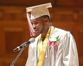 ROBERT K.YOSAY  | THE VINDICATOR..Chaney High School class of 2019. Stambaugh Auditorium ..valedictorian Valar Blair talks about growing up and graduating