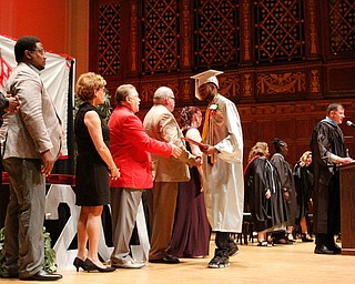 ROBERT K.YOSAY  | THE VINDICATOR..Chaney High School class of 2019. Stambaugh Auditorium ..congratulations... as students receive their diplomas and thank you from school administration