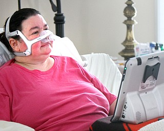 William D. Lewis The Vindicator  Christine Terlesky , who has ALS in her Boardman home 4-4-19.
