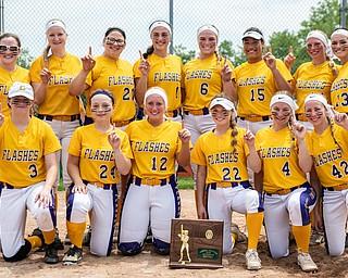 DIANNA OATRIDGE | THE VINDICATOR The Champion softball team won the Division III Regional Championship by defeating Northwestern, 3-0, on Saturday in Massillon.