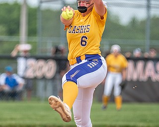 DIANNA OATRIDGE | THE VINDICATOR  Champion's Allison Smith prepares to deliver a pitch during Division III Regional Final against Northwestern on Saturday in Massillon.