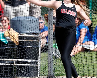COLUMBUS, OHIO - May 31, 2019: OHSAA Track & Field Championships at Jesse Owens Stadium, Ohio State University. .D2 Girl's Discus. Salem's Caitlyn Marx finishes 2nd in the discus. Photo by MICHAEL G. TAYLOR | THE VINDICATOR