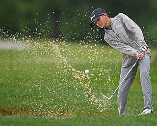 BOARDMAN, OHIO - JUNE 18, 2019: Andrew Ramos, of Blaine, Minnesota, out of the bunker on on the 16th hole, Tuesday afternoon at Mill Creek Golf Course during he first round of the American Junior Golf Association Tournament. DAVID DERMER | THE VINDICATOR