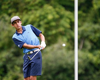 Dhruv Kumar, of Novi, Michigan, hits the ball during the second round of the Mahoning Valley Hospital Foundation Junior All-Star AJGA tournament at Mill Creek Golf Course on Wednesday. EMILY MATTHEWS | THE VINDICATOR