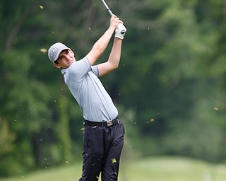 Erik Plenge, of Lima, Peru, drives the ball during the second round of the Mahoning Valley Hospital Foundation Junior All-Star AJGA tournament at Mill Creek Golf Course on Wednesday. EMILY MATTHEWS | THE VINDICATOR