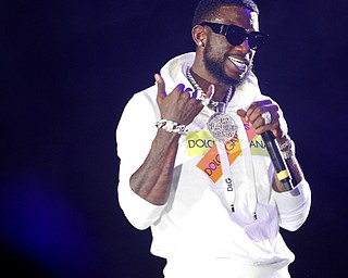 Gucci Mane performs at the Youngstown Foundation Amphitheatre on Saturday. EMILY MATTHEWS | THE VINDICATOR