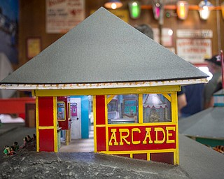 A miniature replica of the arcade is on display at the Idora Park experience on Sunday. EMILY MATTHEWS | THE VINDICATOR