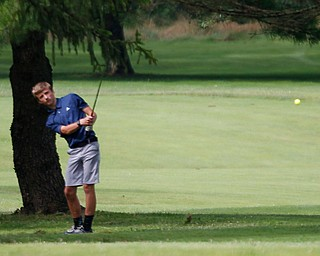 Caleb Domitrovich, 14, of McDonald, hits the ball during the Greatest Golfer junior qualifier at Tam O'Shanter Golf Course in Hermitage, Pa. on Thursday. EMILY MATTHEWS | THE VINDICATOR