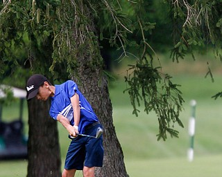 Matthew Morelli, 13, of New Castle, hits the ball during the Greatest Golfer junior qualifier at Tam O'Shanter Golf Course in Hermitage, Pa. on Thursday. EMILY MATTHEWS | THE VINDICATOR