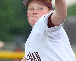 William D. Lewis The Vindicator  Boardman pitcher Ryan Neifer(44) delivers during 7-11-19 win over Canfield.