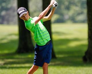Matthew Morelli drives the ball during the Greatest Golfer Boys U14 championship at Avalon Lakes on Saturday. EMILY MATTHEWS   THE VINDICATOR