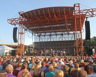 William D. Lewis The Vindicator   Large crowd on hand for Donnie Iris Michael Stanley concert 7-28-19 at Youngstown Amphitheater.
