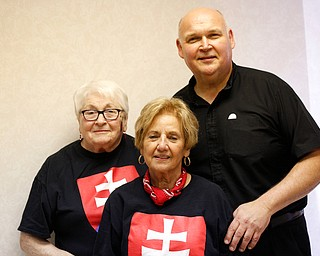 From left, Marj Jerek, Flora Schneider, and Father John Jerek, who all helped organize the Slovak Fest, pose for a photo during the Slovak Fest at Byzantine Center at the Grove on Sunday afternoon. EMILY MATTHEWS | THE VINDICATOR