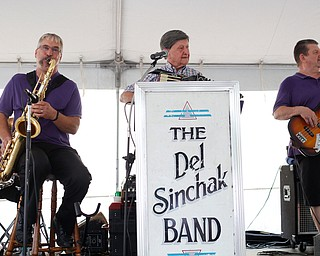 The Del Sinchak Band performs at the Slovak Fest at Byzantine Center at the Grove on Sunday afternoon. EMILY MATTHEWS | THE VINDICATOR