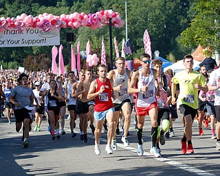 Runners in the 10K take off at the start of the 2019 Panerathon on Sunday morning. EMILY MATTHEWS | THE VINDICATOR