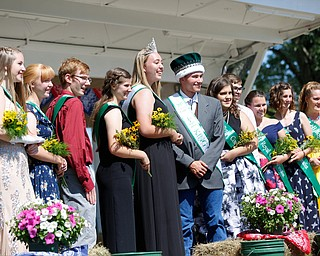 This year's 4-H Royal Court pose for a photo during the Mahoning County Junior Fair Youth Day Ceremony on Thursday. EMILY MATTHEWS | THE VINDICATOR