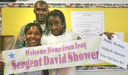 The family Sgt. David A. Showers Jr. of the Army has planned a surprise for the soldier's daughter, Malia, a fourth-grader at Frank Ohl. It is her birthday, and her father is coming home from a tour in Iraq. She doesn't know he's coming home. And will spend his first day back in the states with her at her birthday party