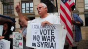 A group of Youngstown residents protested U.S.military involvement in Syria.