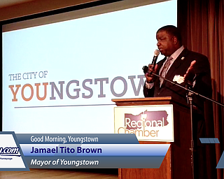Mayor Jamael Tito Brown Speaks at Good Morning Youngstown